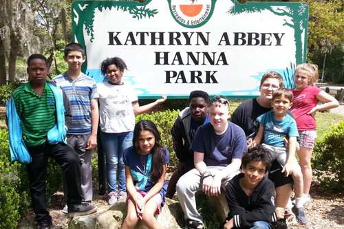kids at state park